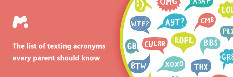 The list of acronyms parents should keep an eye out for