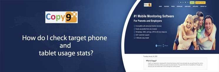 How do I check target phone and tablet usage stats?