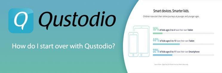 How do I start over with Qustodio?