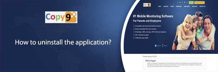How to uninstall the application?