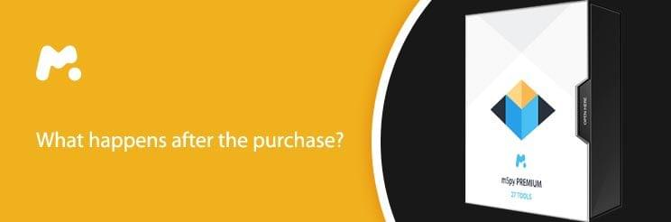 What happens after the purchase?