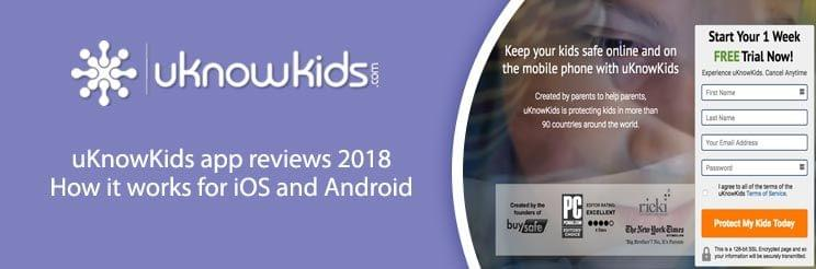 uKnowKids app reviews 2018: How it works for iOS and Android