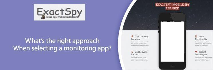 what's the right approach when selecting a monitoring app?